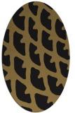 rug #663997 | oval mid-brown rug