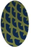 rug #664013 | oval blue abstract rug