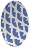 rug #664017 | oval blue abstract rug