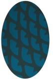 rug #664057 | oval blue abstract rug