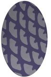 rug #664065   oval blue-violet rug