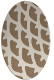 rug #664129   oval beige abstract rug