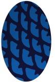 rug #664145 | oval blue abstract rug