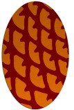 rug #664165 | oval red-orange abstract rug