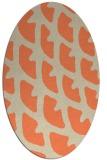 rug #664173 | oval beige abstract rug