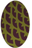 rug #664205 | oval purple rug