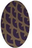 rug #664209 | oval purple rug