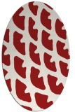 rug #664225 | oval red abstract rug