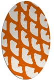 rug #664245 | oval red-orange abstract rug