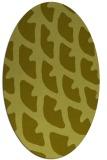 rug #664297 | oval light-green rug