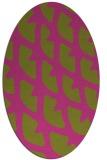 rug #664305   oval light-green rug