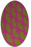 rug #664305 | oval light-green popular rug