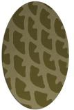 rug #664309 | oval light-green rug