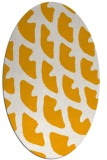 rug #664313   oval light-orange abstract rug