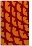 rug #664517 |  orange abstract rug