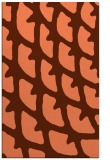 rug #664529 |  red-orange abstract rug