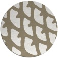 rug #664681 | round white abstract rug