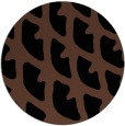 rug #664697   round brown abstract rug