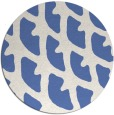 rug #664721 | round blue abstract rug