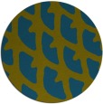 rug #664741 | round blue-green abstract rug