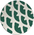 rug #664813 | round green abstract rug