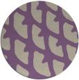 rug #664861 | round purple abstract rug