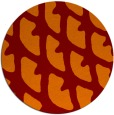 rug #664869 | round orange abstract rug