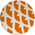 rug #664873 | round orange abstract rug