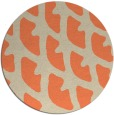 rug #664877 | round orange abstract rug