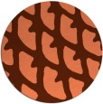 rug #664881 | round red-orange abstract rug