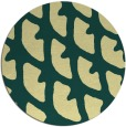rug #664885 | round yellow abstract rug
