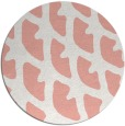 rug #664901 | round white abstract rug