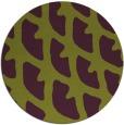 rug #664909 | round purple rug