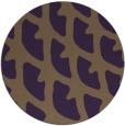 rug #664913 | round mid-brown popular rug
