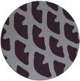 rug #664917   round purple abstract rug