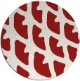 rug #664929 | round red abstract rug