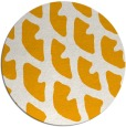 rug #665017 | round light-orange abstract rug