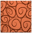 rug #667345 | square orange circles rug
