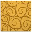 rug #667449 | square light-orange circles rug