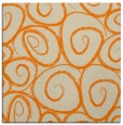 rug #667461 | square orange circles rug