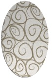 rug #667497 | oval white circles rug
