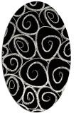 rug #667501 | oval black rug