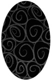 rug #667505 | oval black circles rug