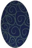 rug #667529 | oval blue-green natural rug