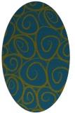 rug #667557 | oval green circles rug