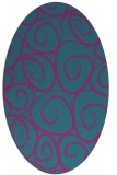 rug #667561 | oval blue-green circles rug