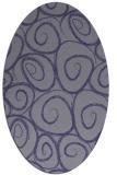 rug #667585 | oval blue-violet popular rug