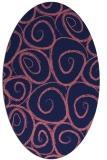rug #667589 | oval pink natural rug