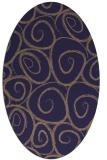 rug #667605 | oval blue-violet rug