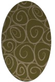 rug #667617 | oval mid-brown natural rug